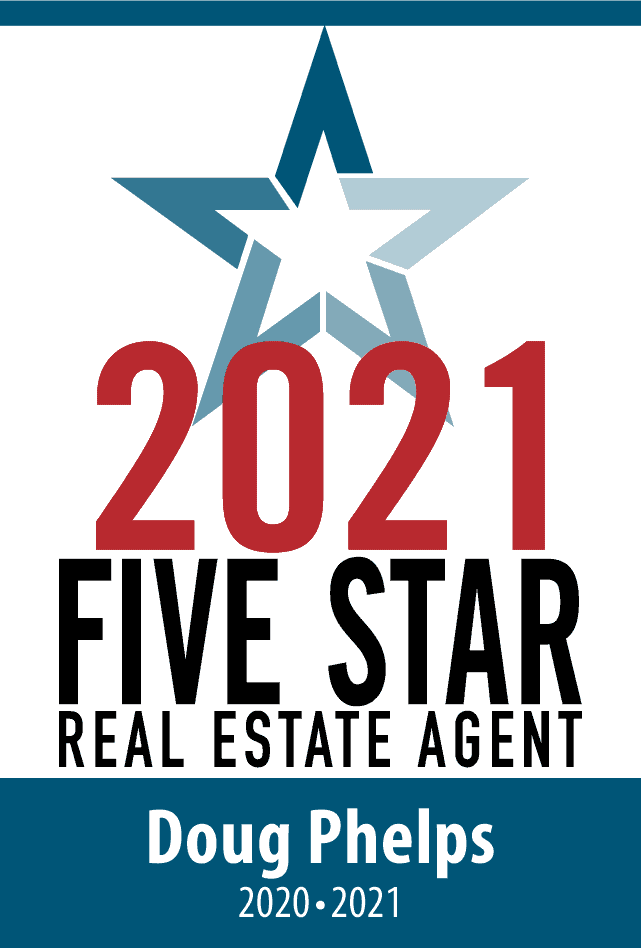 Five Start Real Estate Agent Badge for Doug Phelps