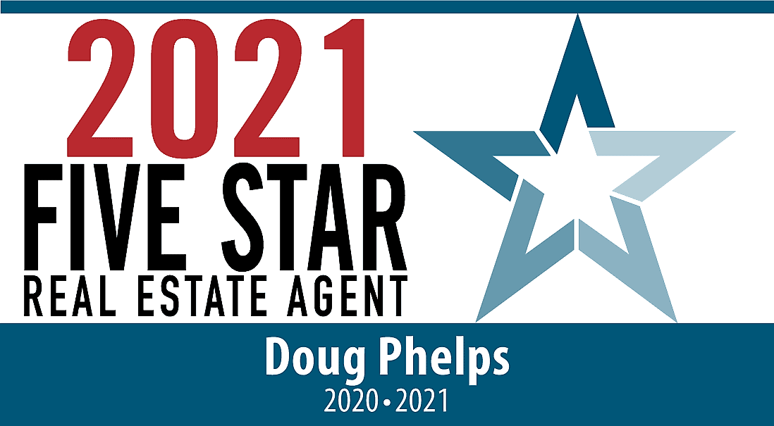 2021 Five Start Real Estate Agent Badge for Doug Phelps